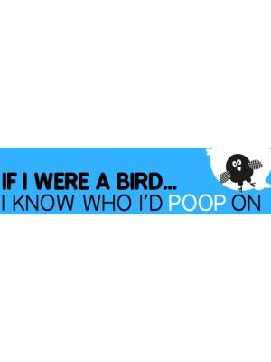 If I Were A Bird Bumper Sticker