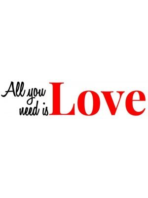 All you need is Bumper Sticker