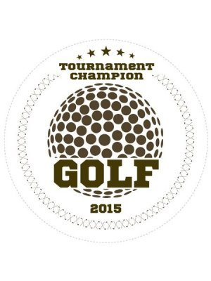 Golf Champions Sports Prize Label