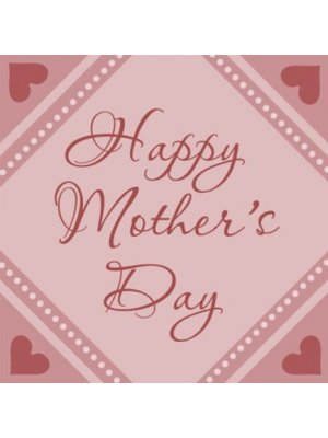 Happy Mothers Day Square Label
