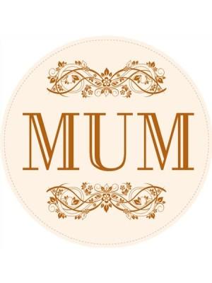 MUM Circular Label