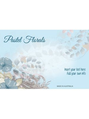 Pastel Leaves and Flowers Label