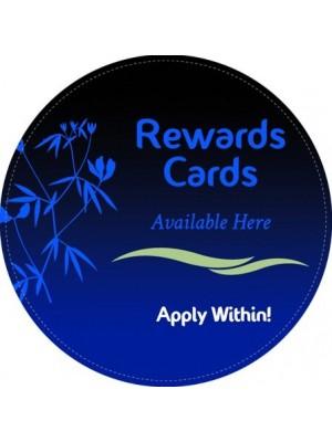 Rewards Cards Round Sticker