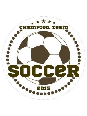 Soccer Champions Sports Prize Label