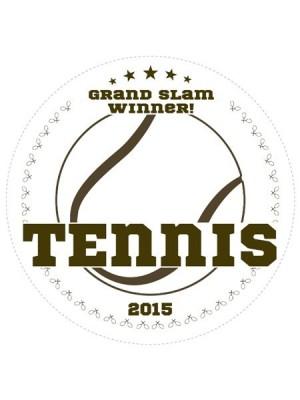 Tennis Champions Sports Prize Label
