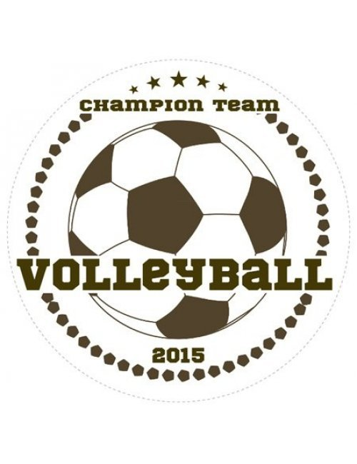 Volleyball Champions Sports Prize Label