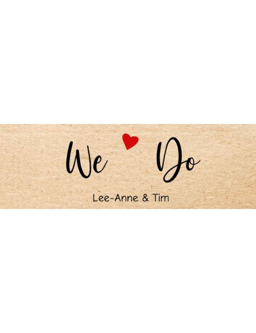 We Do Wedding Label