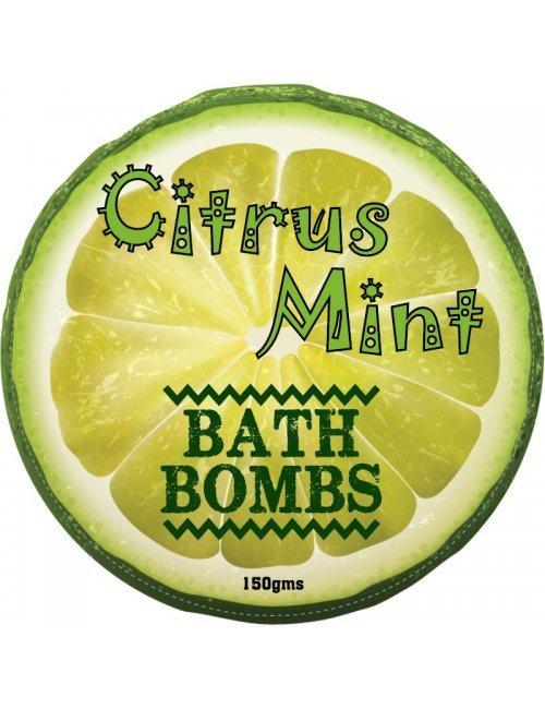Citrus Mint Bath Bomb Label