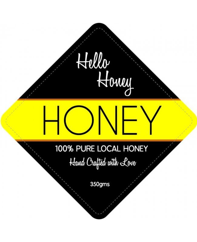 hello honey jar label