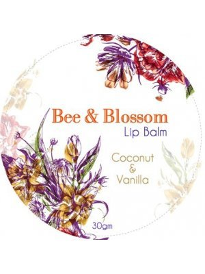 Bee and Blossom Round Label