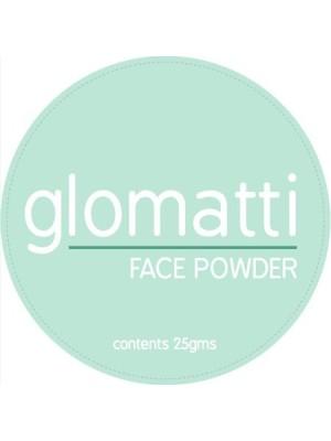 Glomatti Face Powder cosmetic Label