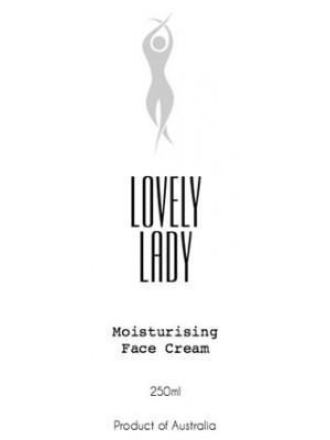 Lovely Lady Moisturising Skin Cream Label