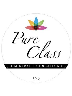 Pure Class Mineral Foundation cosmetic Label