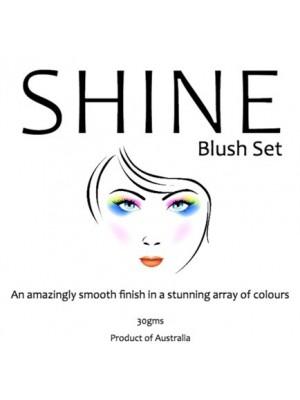 Shine Blush Makeup Label