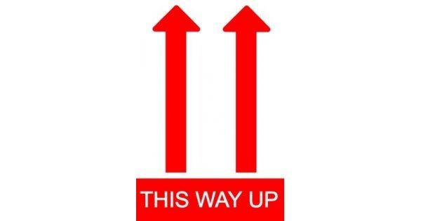 This Way Up Shipping Warning Label  This Way Up Shi...