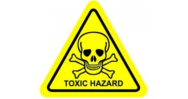 Toxic Hazard Warning Sign Sticker