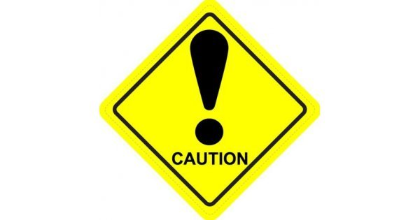 Caution Diamond Warning Sign Sticker