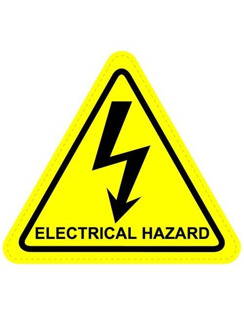 Electrical Hazard Warning Sign Triangular Sticker on file electrical symbols iec
