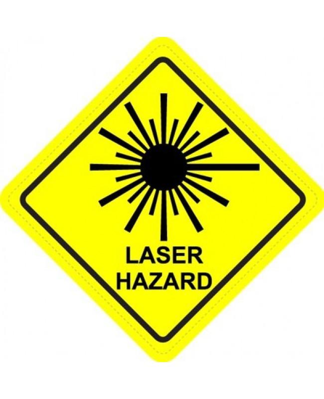 Hazard Diamond: Laser Hazard Diamond Warning Sign Sticker