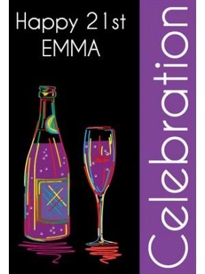 Simple Celebration Wine Label