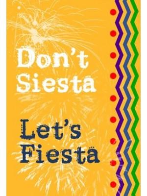 Lets Fiesta Wine Label