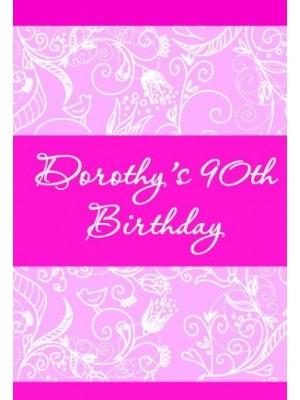 Pink Birthday Wine Label