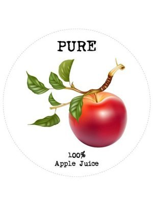 Apple Juice Circle Wine Label