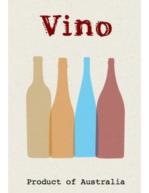 Vino Bottles Wine Label