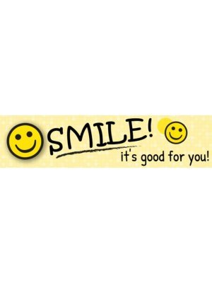 Smile its good for you Bumper Sticker