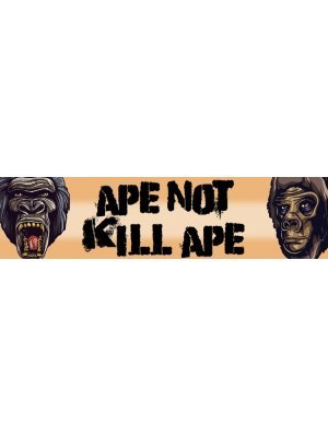 Ape not kill Ape Bumper Sticker