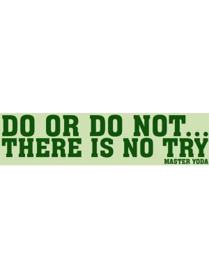 Do or Do Not Bumper Sticker