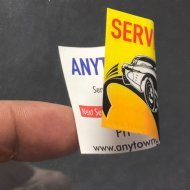 Double Sided Service Stickers