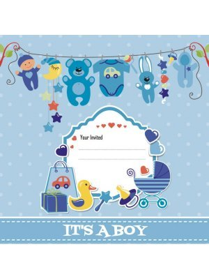 Baby Shower Boy Label