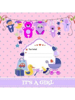 Baby Shower Girl Label