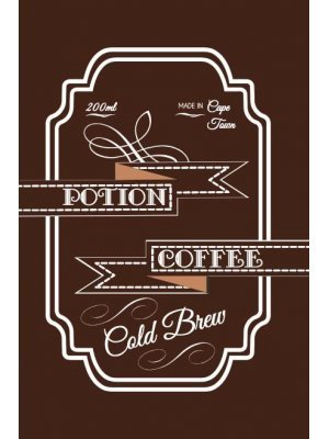 Coffee Is a Potion Product Label