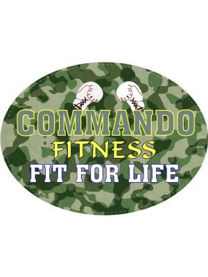 Commando Fitness Oval Label