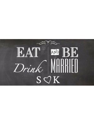 Eat Drink and be Married Label