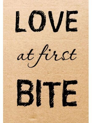 Love at First Bite Wedding Table Label