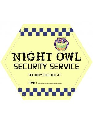 Night Owl Hexagonal Shaped Label