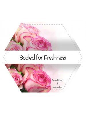 Freshness Seal Hexagonal Shaped Label
