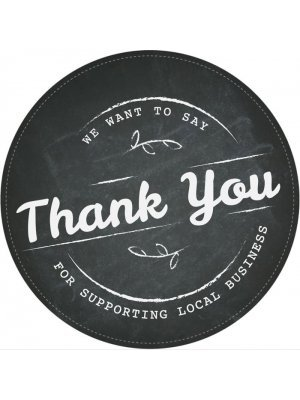 Thank You for supporting local business sticker