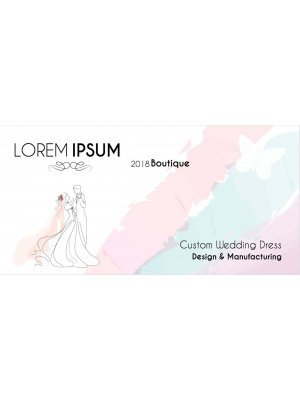 Watercolour Wedding Dress Product Label