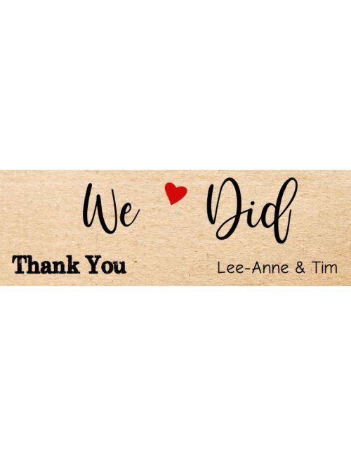 We Did Wedding Thank You Label