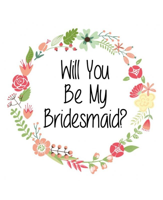 Will You Be My Bridesmaid Label