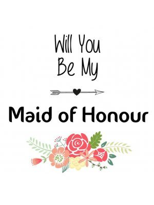 Will You Be My Maid of Honour Label