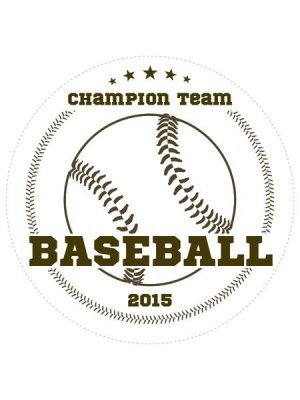 Baseball Champions Sports Prize Label