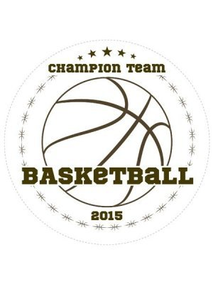 Basketball Champions Sports Prize Label