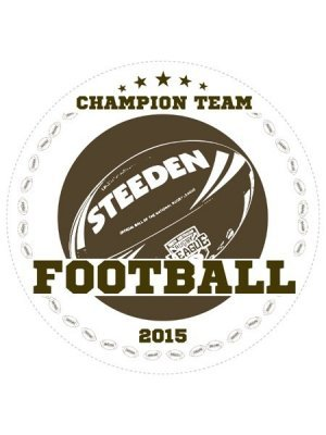 Football Champions Sports Prize Label