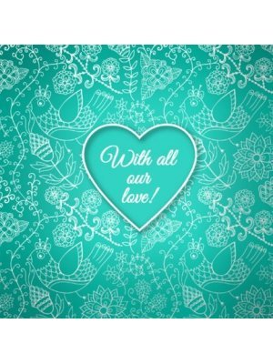 With All Our Love Wedding Note Label