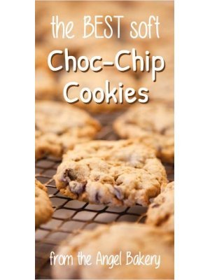 Best Soft Choc Chip Cookie Vertical Label